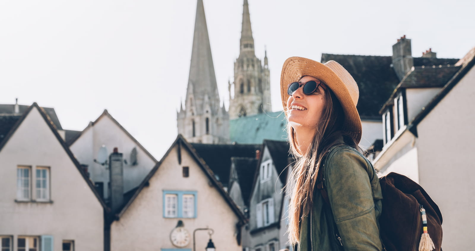 Fille à Chartres en basse ville