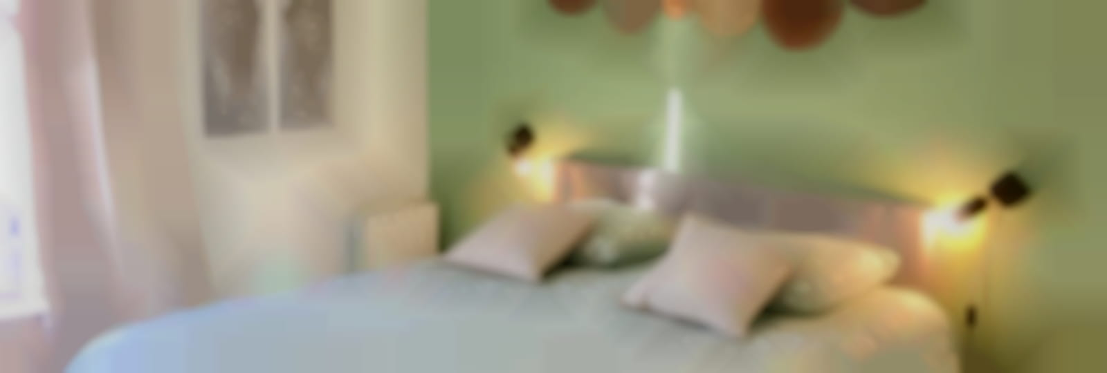 chambre de l'appartement terrasse